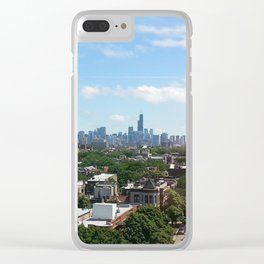 Chicago Skyline Facing South Clear iPhone Case
