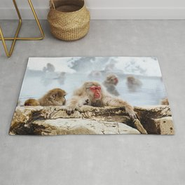The Japanese macaque also known as the snow monkey Rug