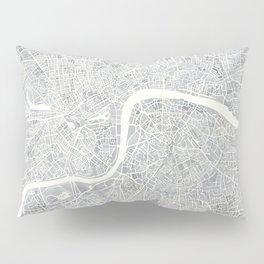 City Map London watercolor map Pillow Sham