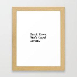 Knock-Knock 2 Framed Art Print