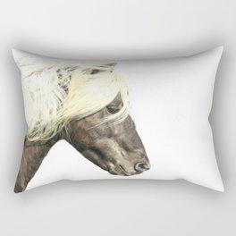 Horse Profile Rectangular Pillow