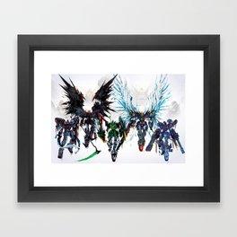 Gundams Framed Art Print
