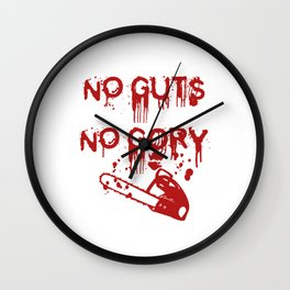 No Guts, Not Gory! Red Version Wall Clock