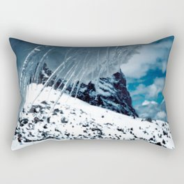 NATURE'S WONDER #1 - Icicles up in the mountains #art #society6 Rectangular Pillow