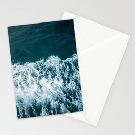 Espuma oscura en el mar Stationery Cards