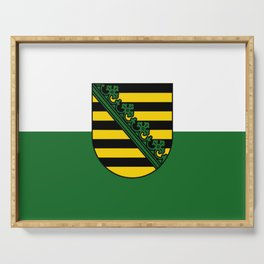 flag of Sachsen (historic state) Serving Tray