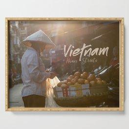 Vietnam street market Serving Tray