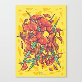 (Des)Integration Series - Yellowskull Canvas Print