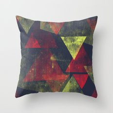 weathered triangles Throw Pillow