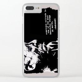 BUKOWSKI - solitude QUOTE Clear iPhone Case