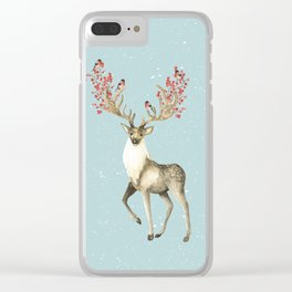 Deers With Birds #society6 #buyart Clear iPhone Case