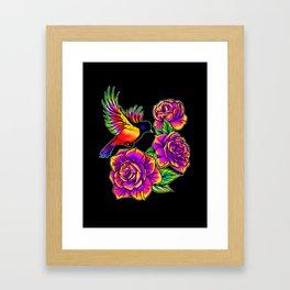 Birds in Paradise Inverted Framed Art Print