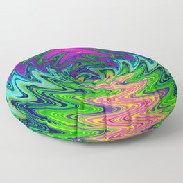 Psychedelic Journey of Colours Floor Pillow