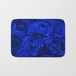 China Blue Rose Abstract Bath Mat