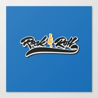 rock and roll Canvas Prints featuring Rock & Roll by peggo