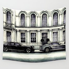 THE STREET OF LONDON IN GREYS Wall Tapestry