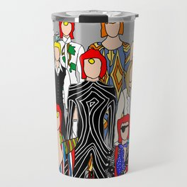 Gray Heroes Group Fashion Outfits Travel Mug