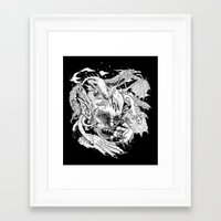 demon Framed Art Prints featuring Demon by Gregery Miller