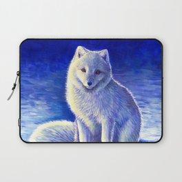 Peaceful Winter Arctic Fox Laptop Sleeve