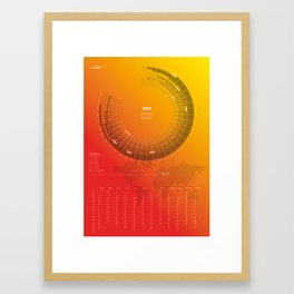 Bureau Oberhaeuser Calendar 2016 orange, german Framed Art Print