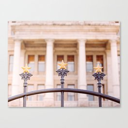 Stars over Texas x Texas State Capitol Canvas Print