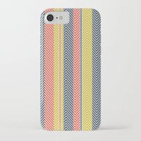mid century iPhone & iPod Cases featuring Mid Century Herringbone 2 by David Andrew Sussman