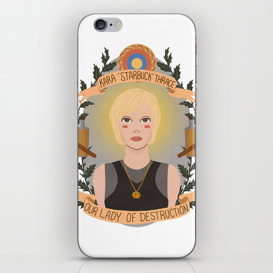 "Kara ""Starbuck"" Thrace iPhone & iPod Skin"