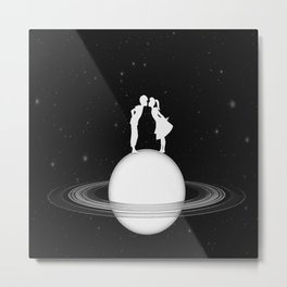 Love on Saturn Metal Print