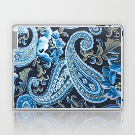 Blue Brown Vintage Paisley Laptop & iPad Skin