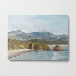 Oregon Coast - Cannon Beach Nature, Landscape Photography Metal Print