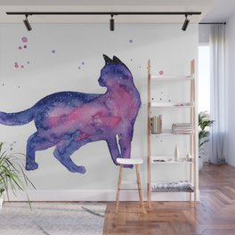 Cat in Space Wall Mural