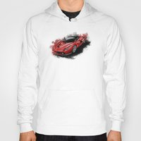 ferrari Hoodies featuring Ferrari LaFerrari by an.artwrok