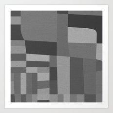 49th and Oak Black and White Art Print