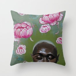Here Comes a Thought Throw Pillow