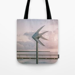 Cairns Woven Fish Sculpture (Single) | Cairns Australia Ocean Sunrise Travel Photography Tote Bag