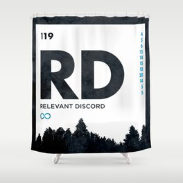 An Element of Discord (Icy Blue) Shower Curtain