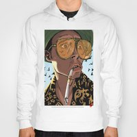 fear and loathing Hoodies featuring DEPP: Fear and Loathing in Bat Country by ThatJokerGuy