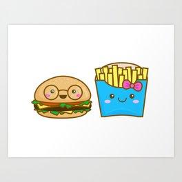 We go together like burger and fries Art Print