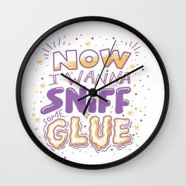 Glue Wall Clock