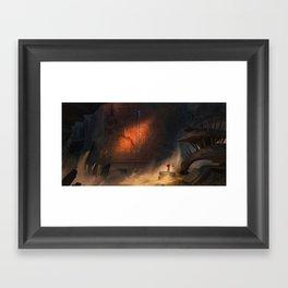 Desert Gate Framed Art Print