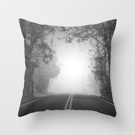 The Path Untraveled Throw Pillow