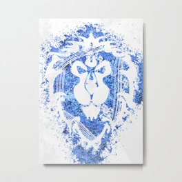 Warcraft *For the Alliance!* Metal Print