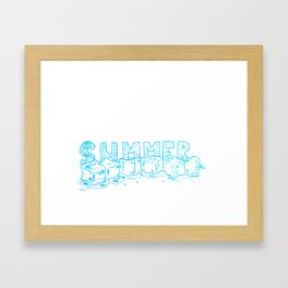 Icecubes summer Framed Art Print