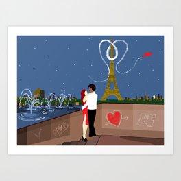 Valentines in Paris Art Print