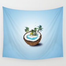The illusion of the sea paradise blue Wall Tapestry
