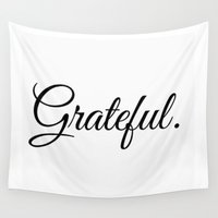 grateful dead Wall Tapestries featuring Grateful by I Love Decor