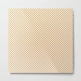 Butterscotch Polka Dots Metal Print