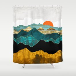 Turquoise Vista Shower Curtain