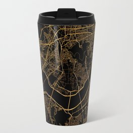 Black and gold Seoul map Travel Mug