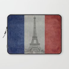National Flag of France - Vintage Version Laptop Sleeve